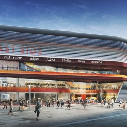 Thumbnail-Foto: Neue East Side Mall an der Berliner Mercedes-Benz Arena...