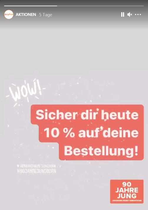 Screenshot eines Instagram-Posts